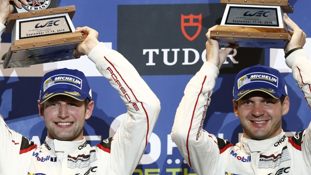 Porsche Team Manthey: Michael Christensen, Richard Lietz (l-r), FIA WEC 2015, Porsche AG