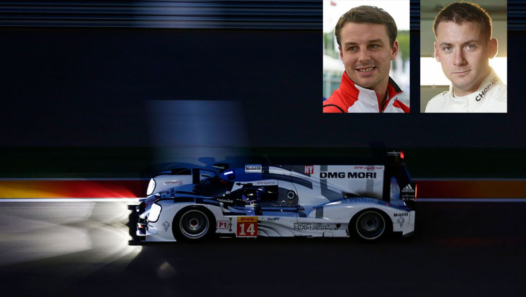 Earl Bamber, Werksfahrer, Nick Tandy, Werksfahrer, 2015, Le Mans, Porsche AG
