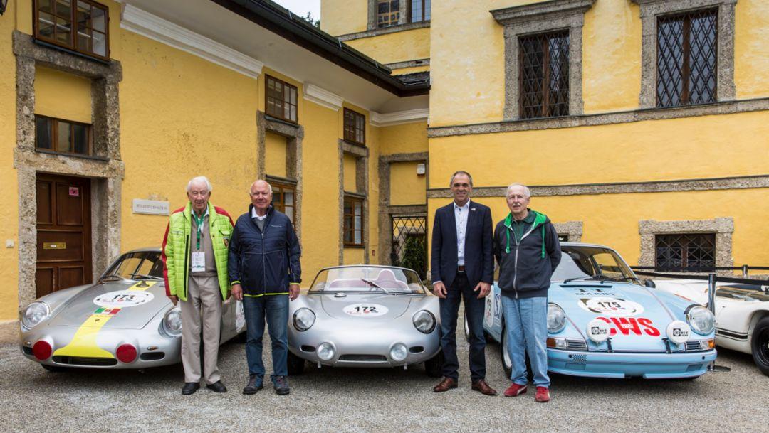 Porsche 356 B 2000 GS Carrera GTL Abarth, 718 RS 60, 911 2.5 S, Gaisberg, 2019, Porsche AG