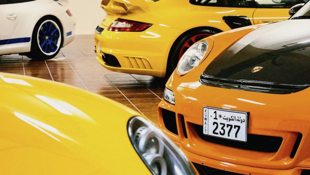 911 GT3, 911 GT2, 911 GT3 RS, l-r, Kuwait, 2018, Porsche AG