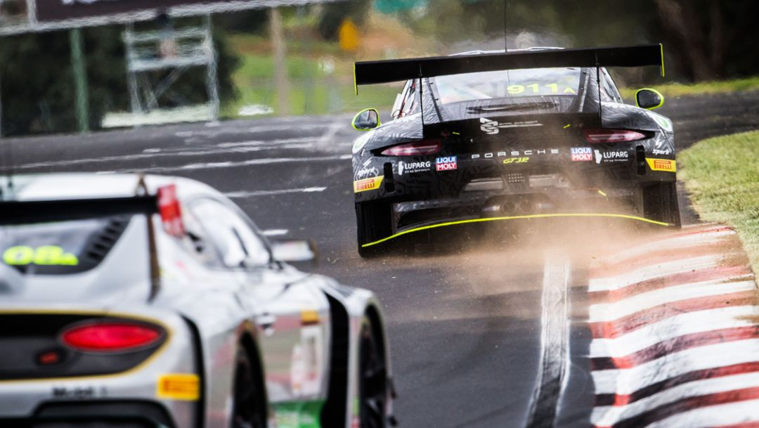 911 GT3 R, EBM, Qualifying, Intercontinental GT Challenge, Mount Panorama Circuit, Bathurst, 2019, Porsche AG