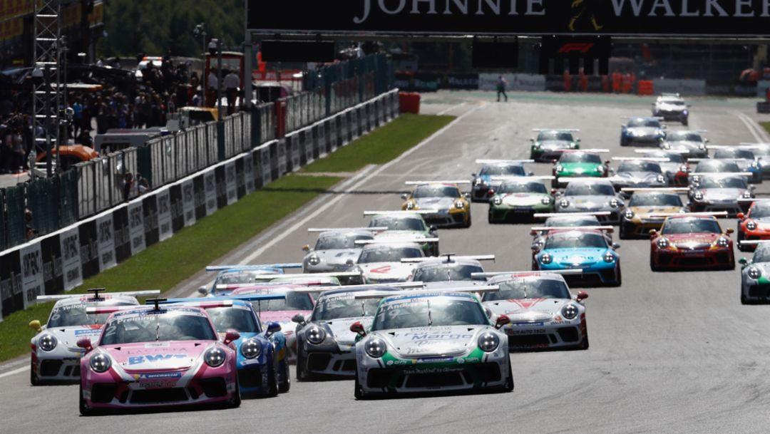 911 GT3 Cup, Spa-Franchorchamps, Rennen 7, 2018, Porsche AG