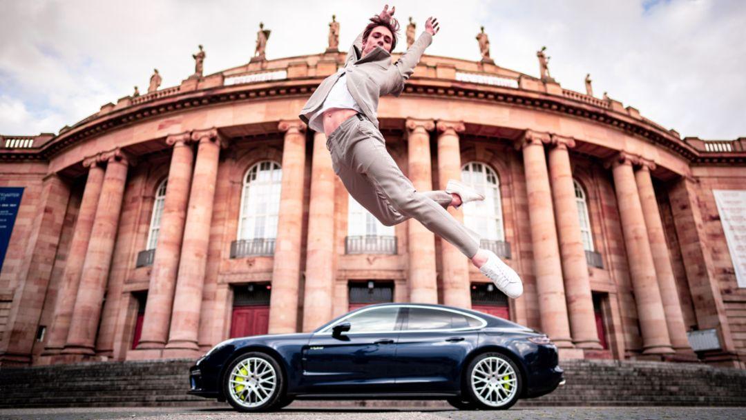 Friedemann Vogel, Balletttänzer, Panamera Turbo S E-Hybrid, Staatstheater Stuttgart, 2019, Porsche AG