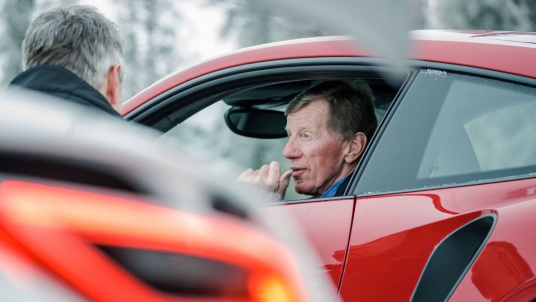 Walter Röhrl, Porsche Driving Experience Levi, Finland, 2017, Porsche AG