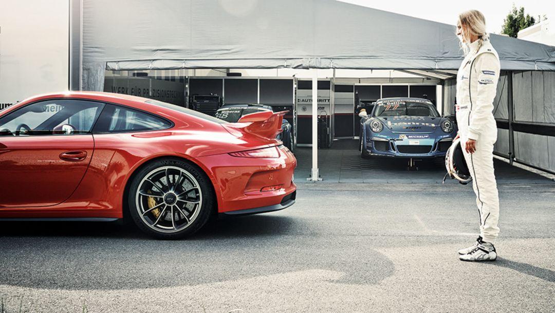 Michelle Gatting, Porsche-Carrera-Cup pilot, 911 GT 3, 2014, Porsche AG
