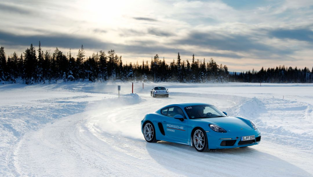 718 Cayman S, Porsche Ice Experience, Levi, Finnland, 2018, Porsche AG
