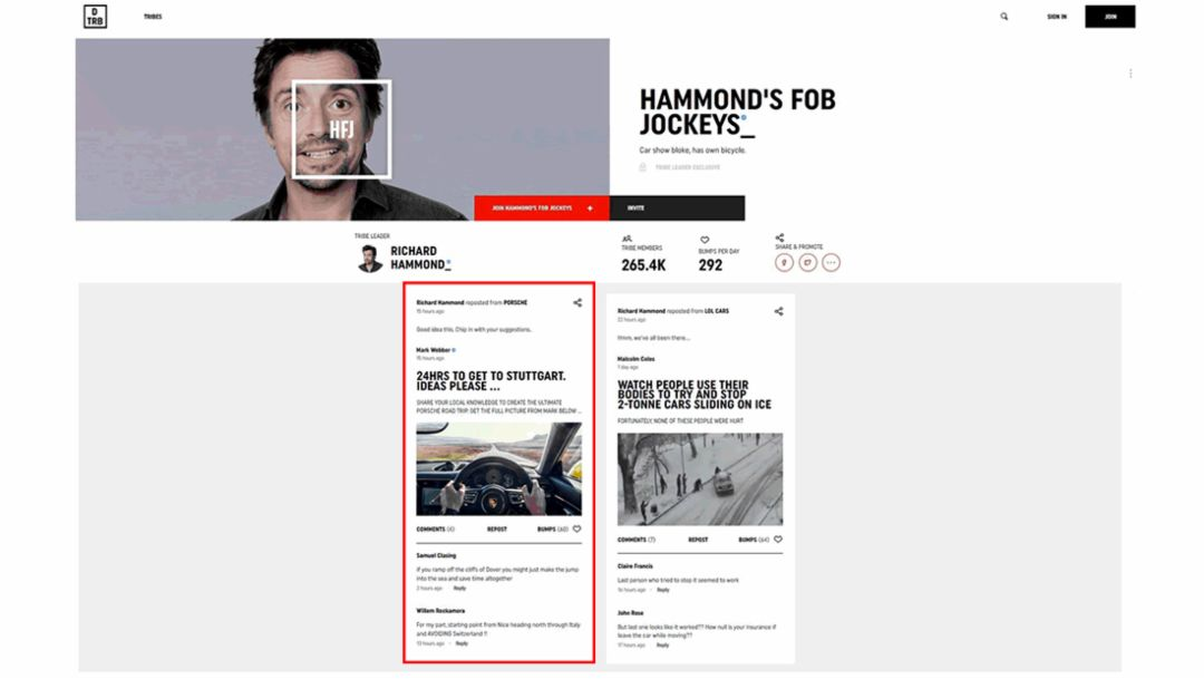 HAMMOND'S FOB JOCKEYS_, Drivetribe, 2017, Porsche AG