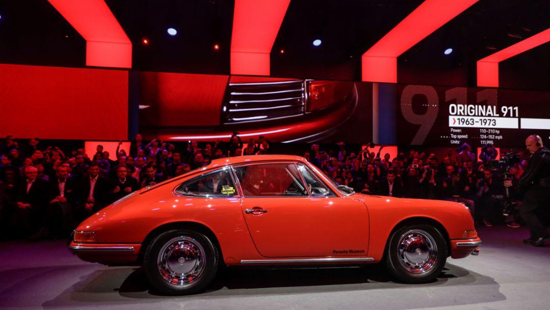 911 (original 911), world premiere Porsche 911, Los Angeles, 2018, Porsche AG