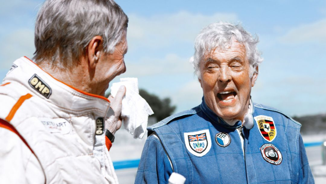 Гийс ван Леннеп, Брайан Редман, Rennsport Reunion, Laguna Seca, 2015, Porsche AG