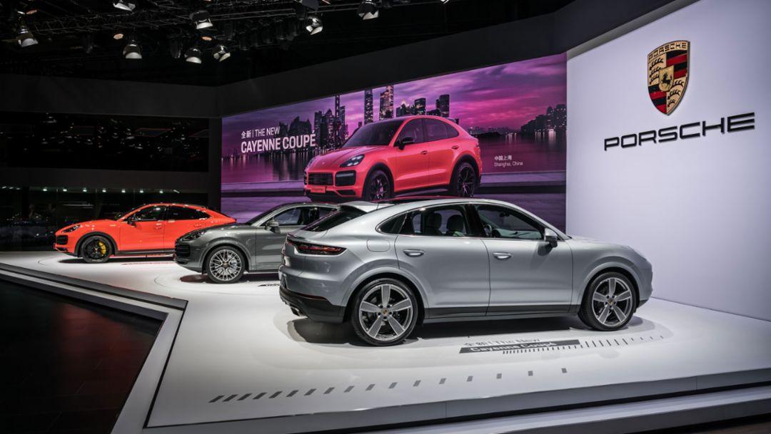 Cayenne Coupé, Cayenne Turbo Coupé, Auto Shanghai, 2019, Porsche AG