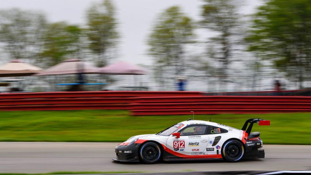 Earl Bamber, Laurens Vanthoor, Porsche 911 RSR (912), IMSA WeatherTech SportsCar Championship, Mid-Ohio, 2019, Porsche AG