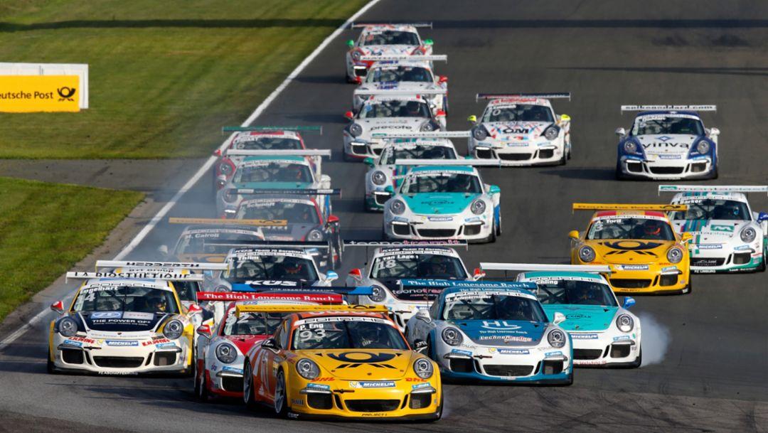 Start, Porsche Carrera Cup Deutschland, Oschersleben, 2015, Porsche AG
