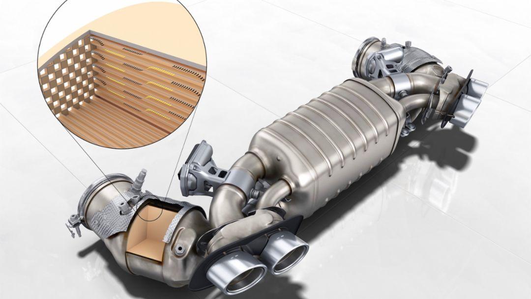 Abgasanlage mit Otto-Partikelfilter, 2019, Porsche AG