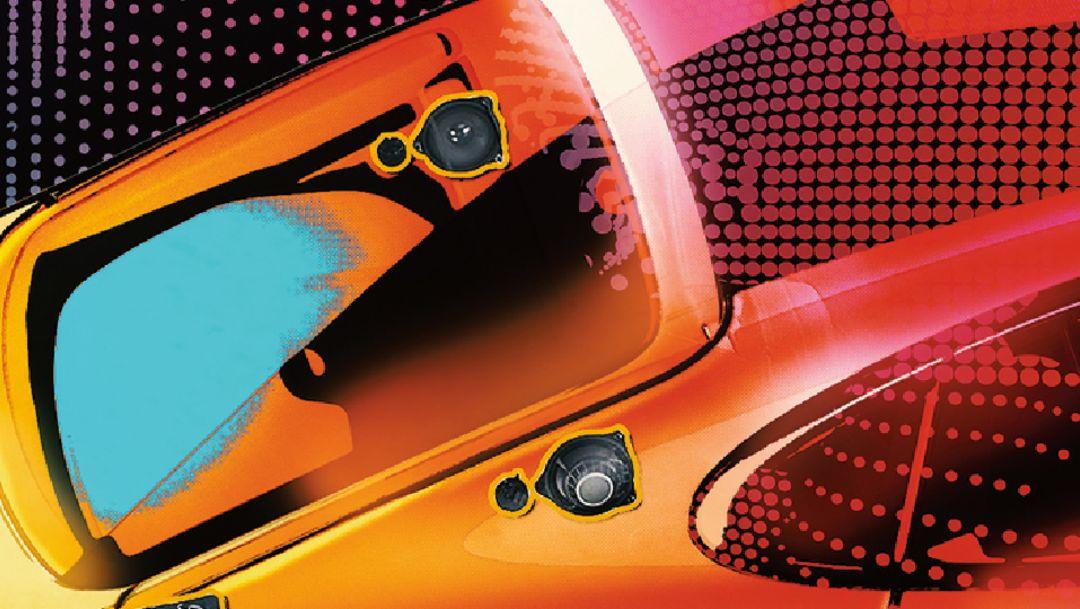 Burmester 3D High-End Surround Sound-System, Porsche Panamera, 2017, Porsche AG