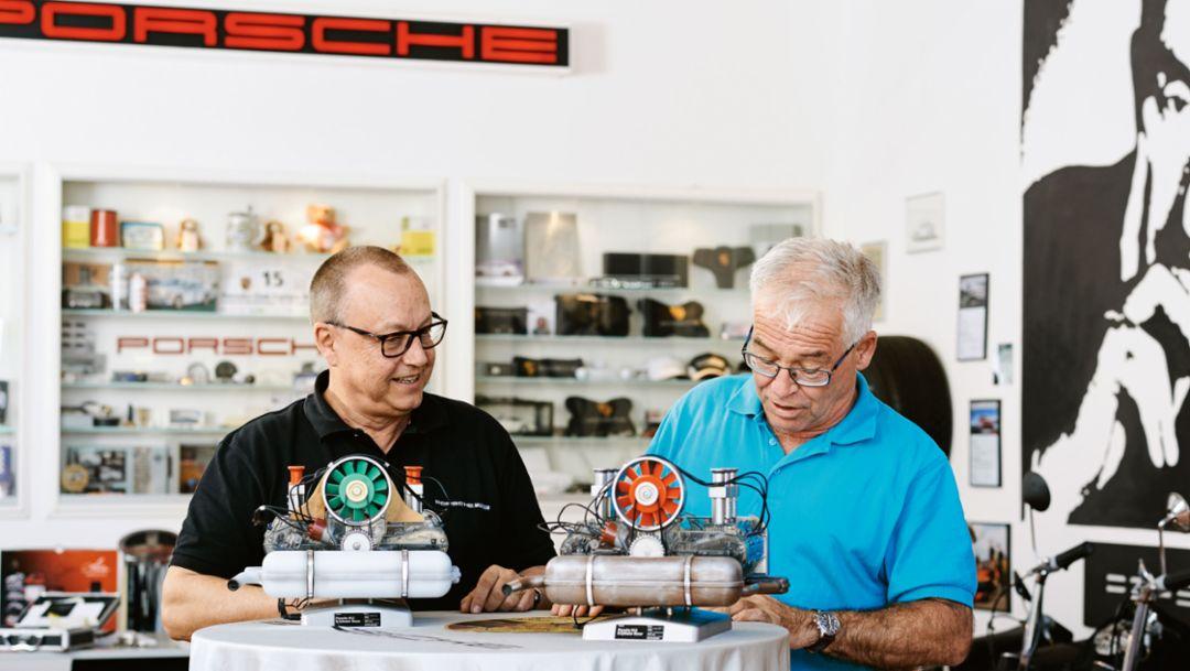 Thomas Müller, Joachim Nießlein, l-r, 2017, Porsche AG