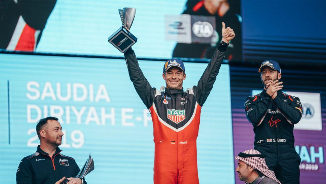 André Lotterer 以亚军成绩在电动方程式赛季揭幕战上成功登上领奖台