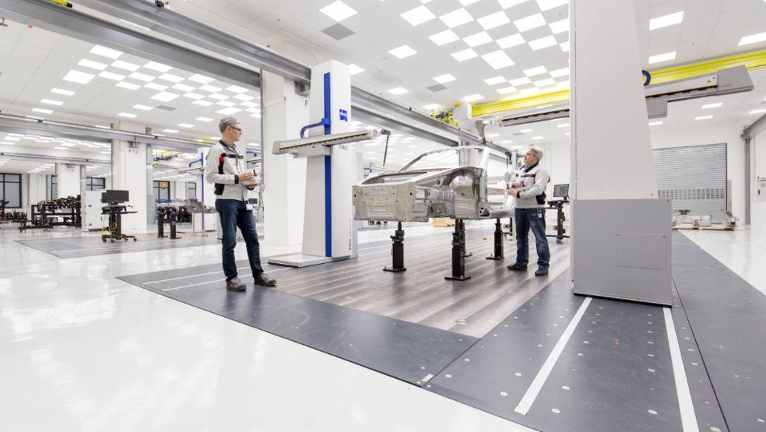 Koordinatenmessmaschine, Karosseriebau, 2018, Porsche AG