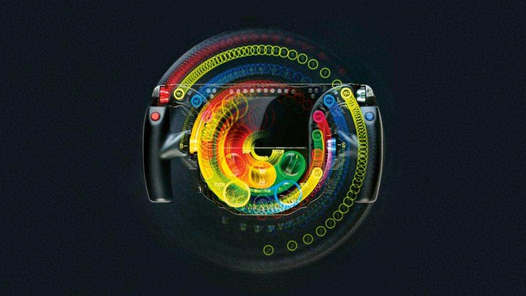 Steering wheel, 919 Hybrid, 2016, Porsche AG