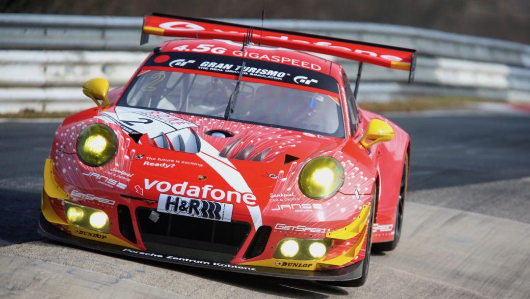Porsche 911 GT3 R, Gigaspeed Team GetSpeed Performance, 24-hour Nürburgring, 2018, Porsche AG