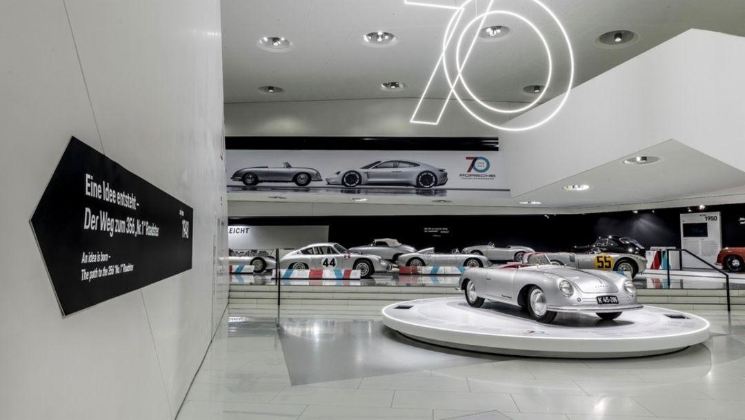 """Porsche 356, special exhibition """"70 Years Porsche Sportscar"""", 2018, Porsche AG"""