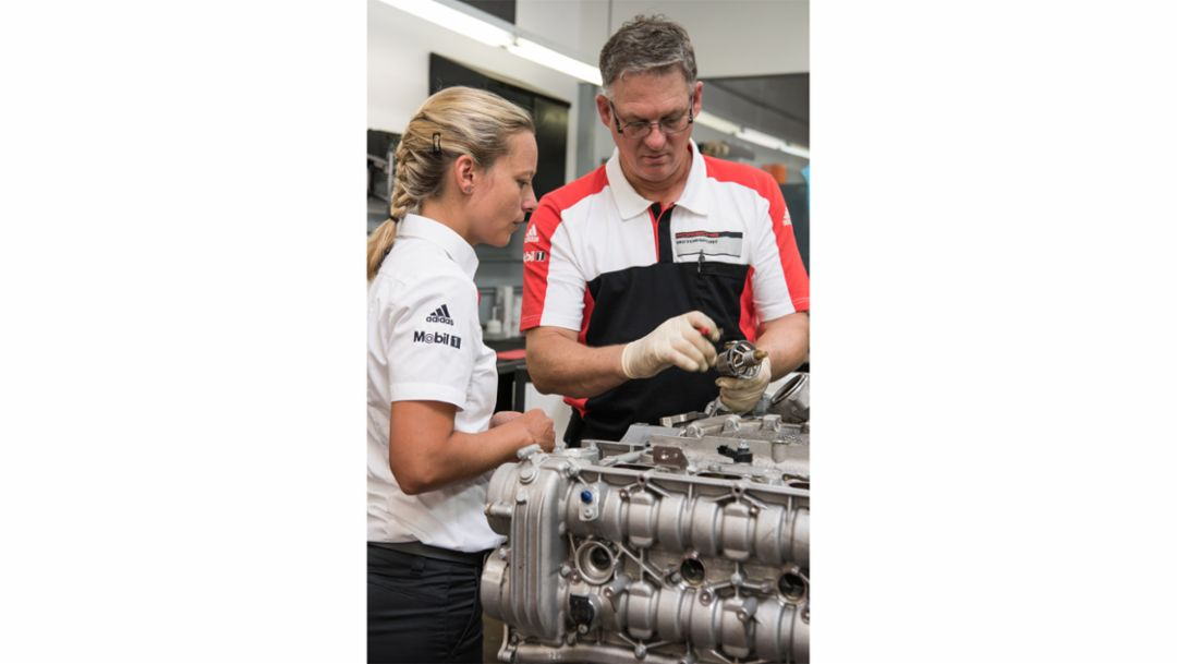 Anika Förster, trainee at Porsche Motorsport North America, 2016, Porsche AG