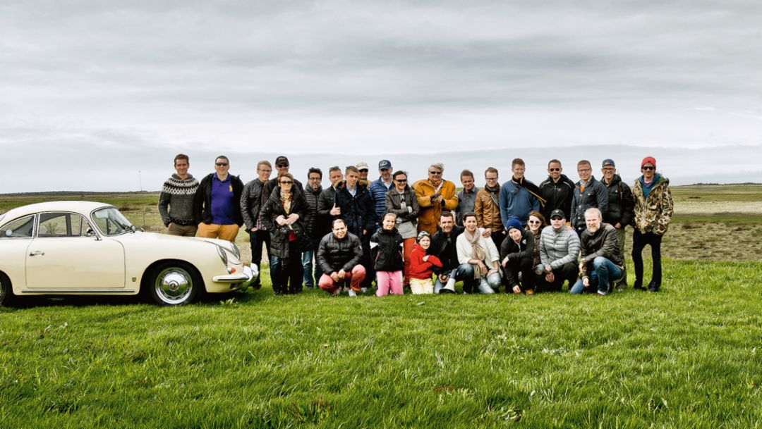 A part of the Porsche Club Iceland, Iceland, 2016, Porsche AG