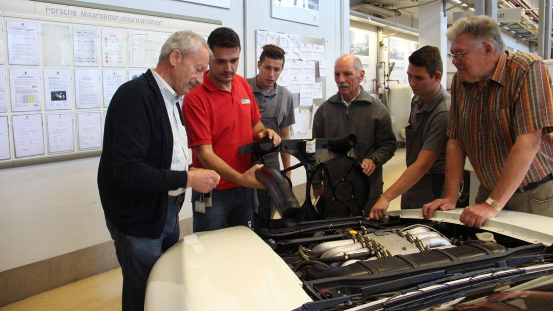 Former Porsche employees, apprentices, 928, Trigema, 2014, Porsche AG