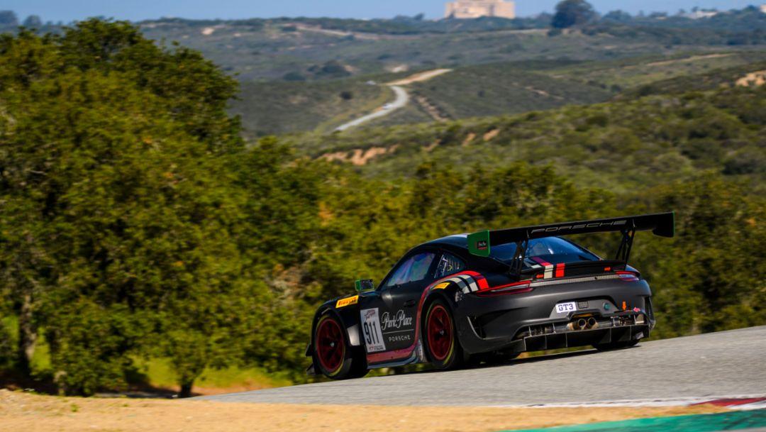 911 GT3 R, Training, Intercontinental GT Challenge, 2. Lauf, Laguna Seca/USA, 2019, Porsche AG
