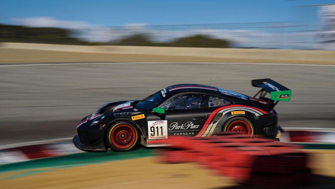 911 GT3 R, Park Place Motorsports, race, International GT Challenge, Laguna Seca, 2019, Porsche AG
