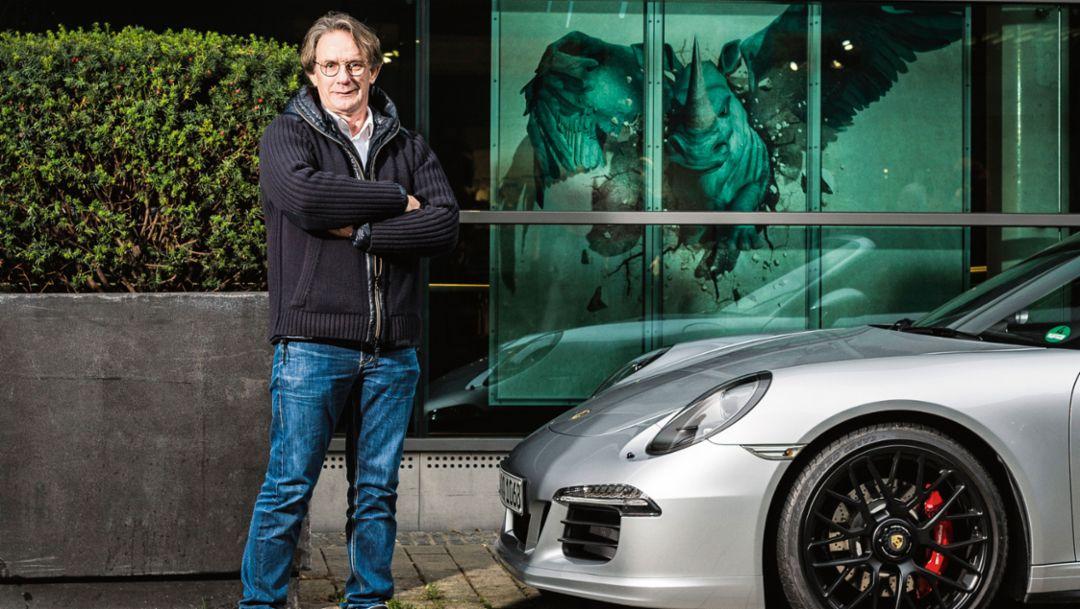 Karsten Schumann, Vorsitzender, Porsche Club Westfalen, 911 Carrera 4 GTS, Dortmund, 2017, Porsche AG