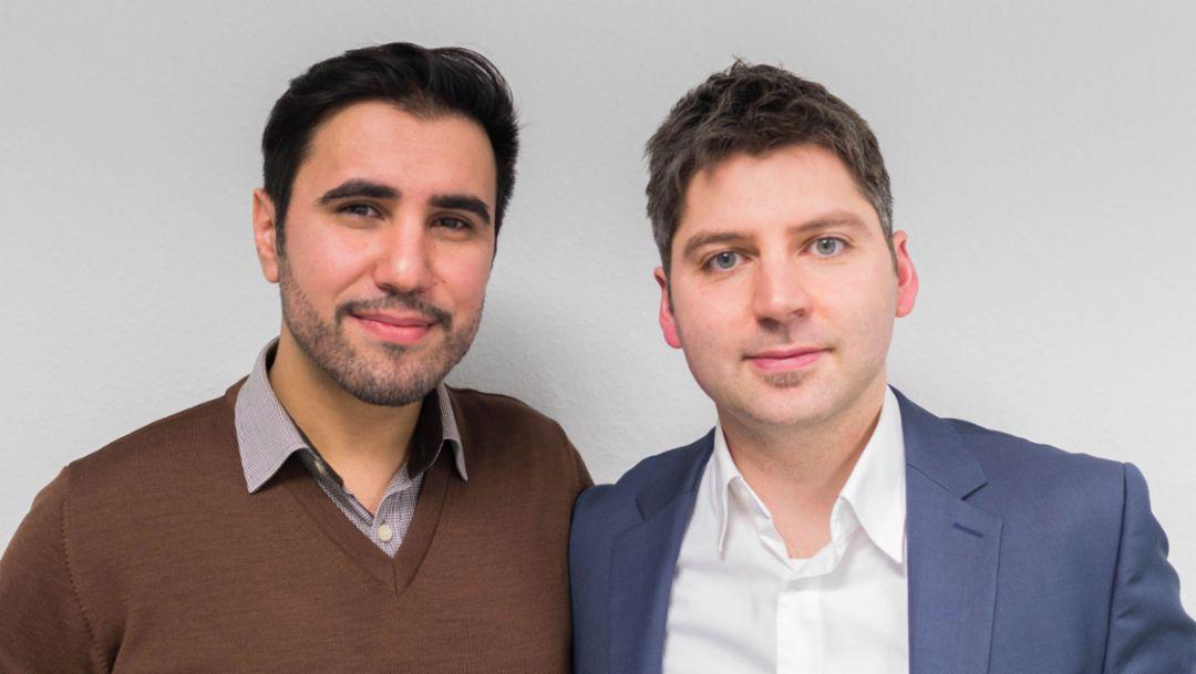 Mehmet Arziman, Heiko Scholtes, founder Home-iX, 2017, Porsche AG