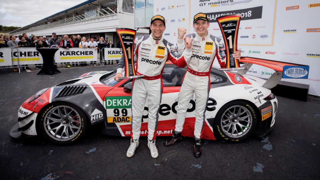 Porsche wins championship title in the ADAC GT Masters