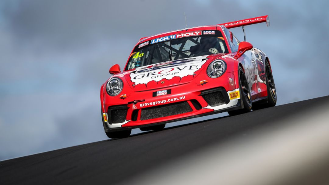 GT3 Cup, Grove Racing, Qualifying, Intercontinental GT Challenge, Mount Panorama Circuit, Bathurst, 2019, Porsche AG