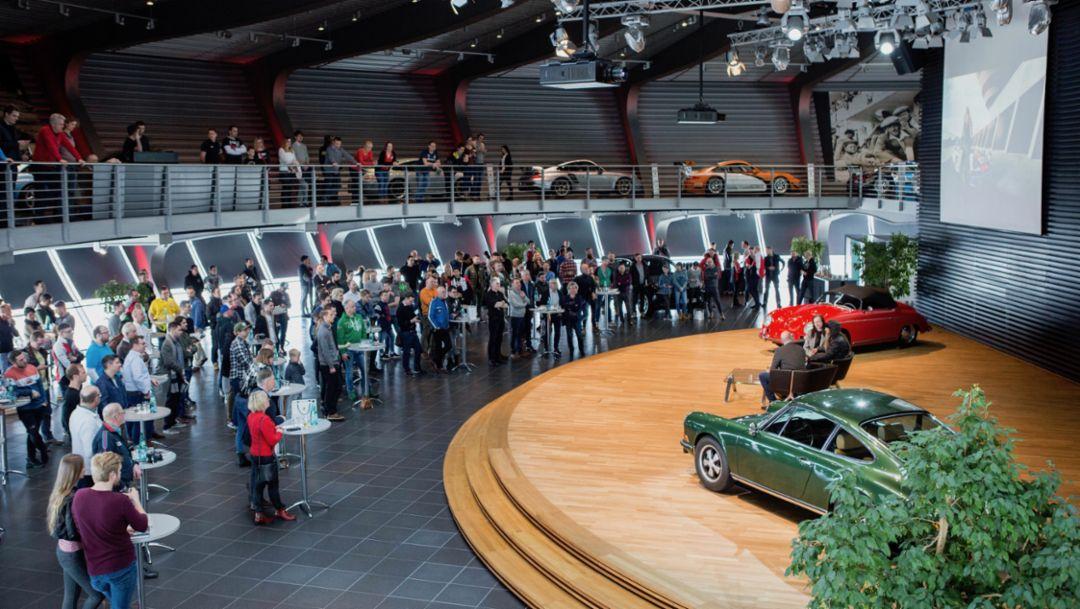 Magnus Walker, Auditorium, Porsche Leipzig, 2018, Porsche AG
