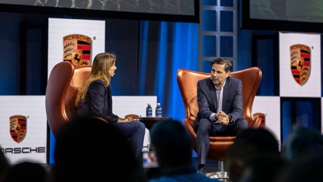 Porsche races into the future at AutoMobility LA