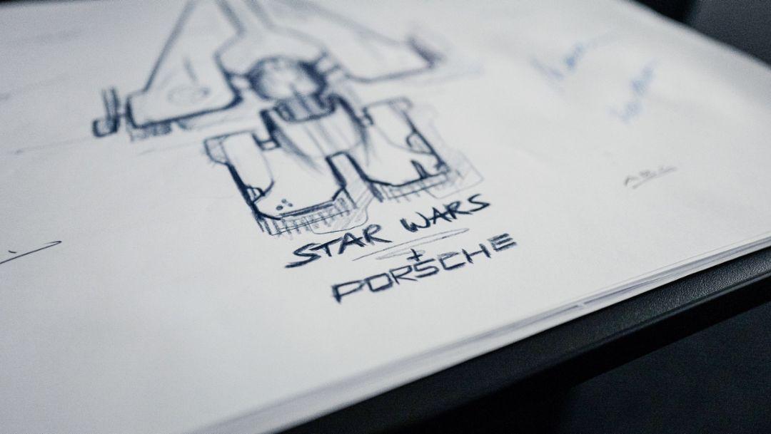 Porsche и Lucasfilm совместно разрабатывают фантастический космический корабль