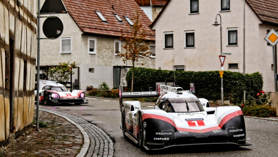 Porsche 919 Hybrid on public roads in Germany