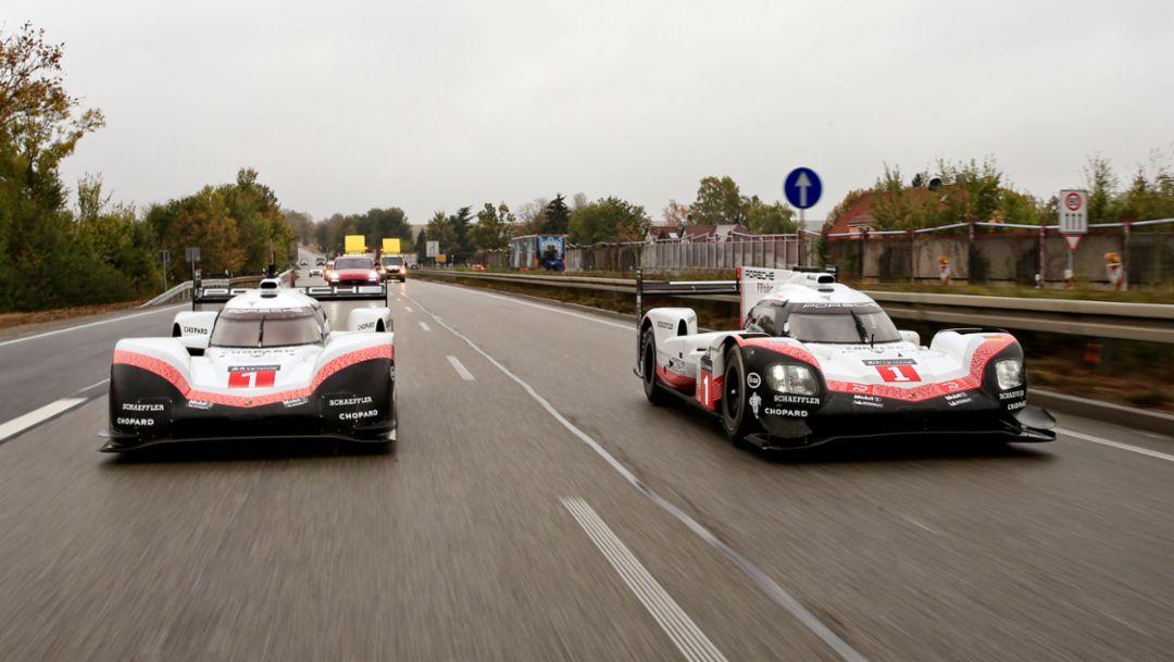 Porsche 919 Hybrid Evo (left), Porsche 919 Hybrid, 2018, Porsche AG