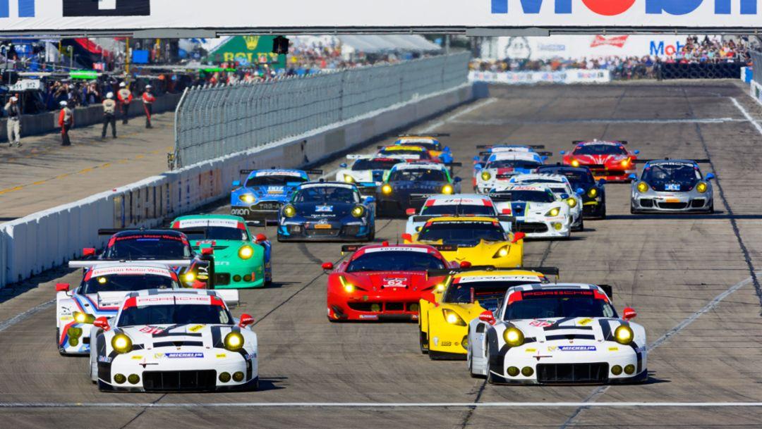 Porsche 911 RSR, Porsche North America: Joerg Bergmeister, Earl Bamber, Frédéric Makowiecki, Sebring 2015, Porsche AG