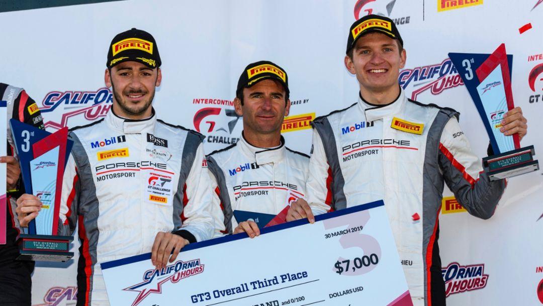 IntGTC: Porsche 911 GT3 R fährt auf Platz drei