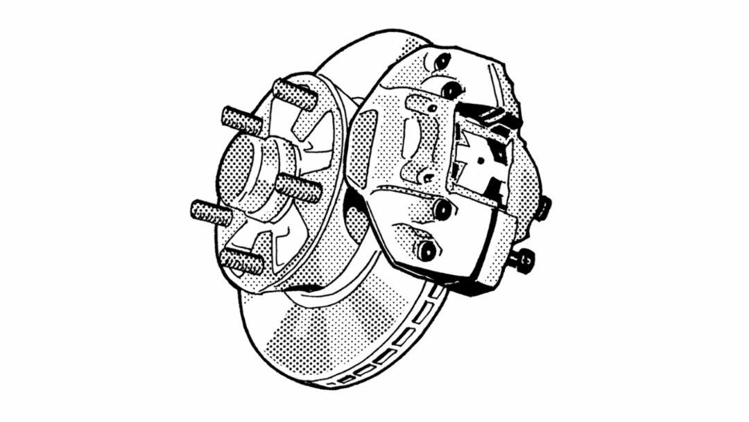 Internally vented brake disc, 1966, Porsche AG