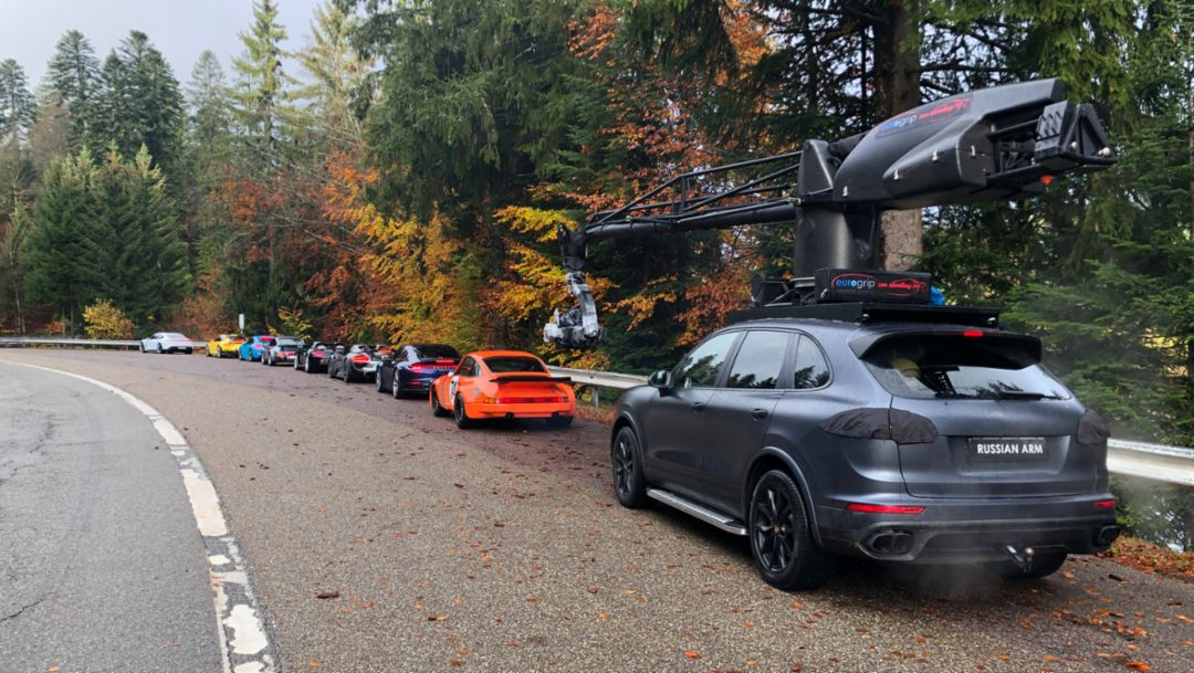 Behind the scenes: filming of the Porsche Super Bowl advert