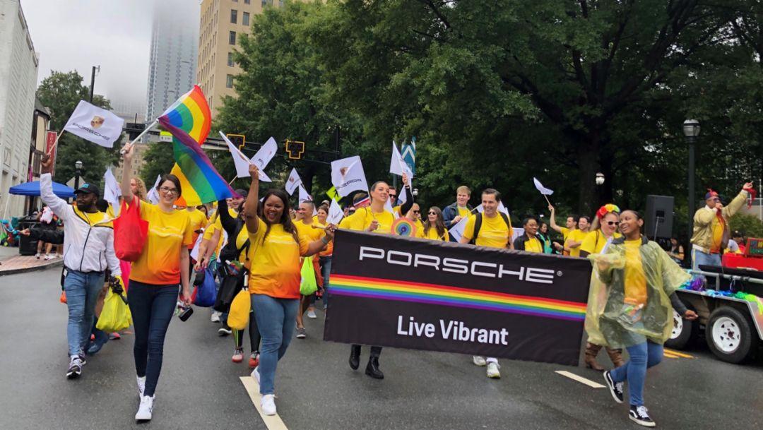 Porsche Cars North America at the 49th Atlanta Pride Parade