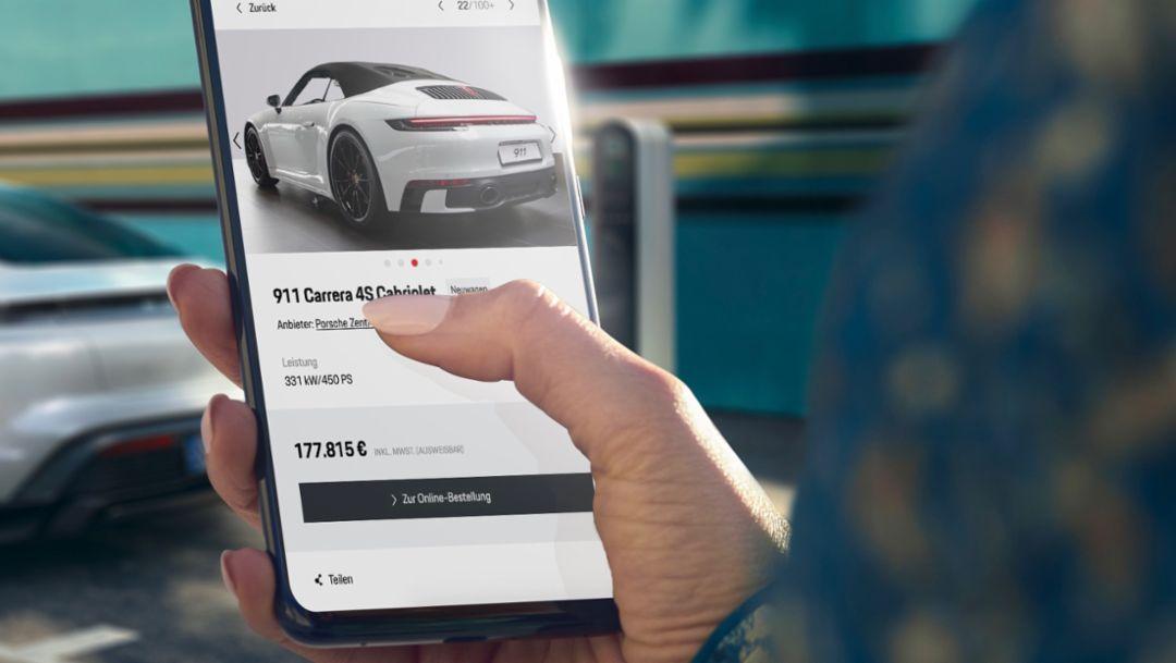 Porsche is digitising its car sales on the German market