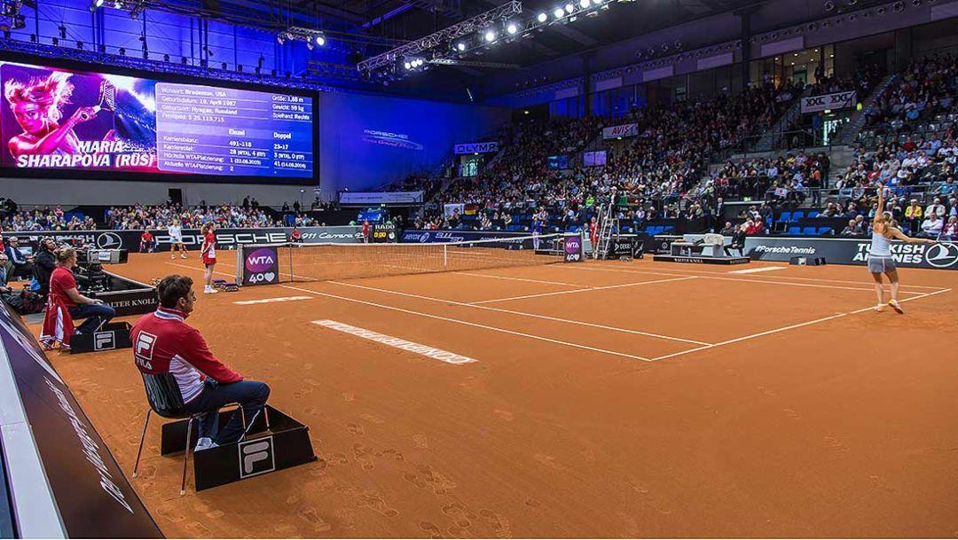 Tennis court, Porsche Tennis Grand Prix, Porsche-Arena Stuttgart, 2014, Porsche AG