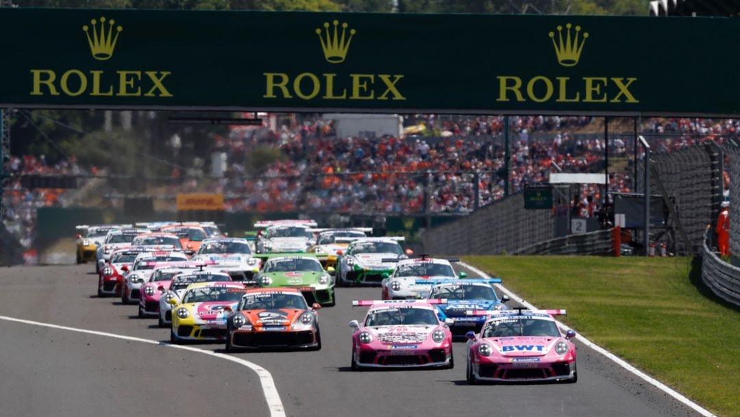 Porsche Mobil 1 Supercup features at eight Formula 1 rounds
