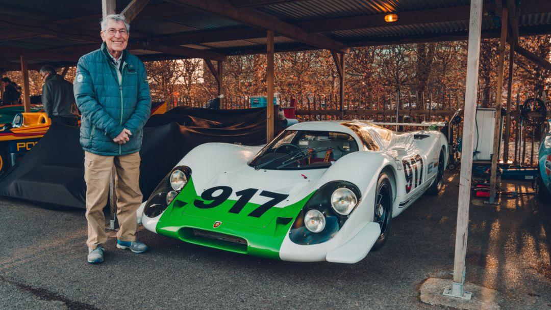 Vic Elford, 77. Goodwood Members Meeting, Großbritannien, 2019, Porsche AG