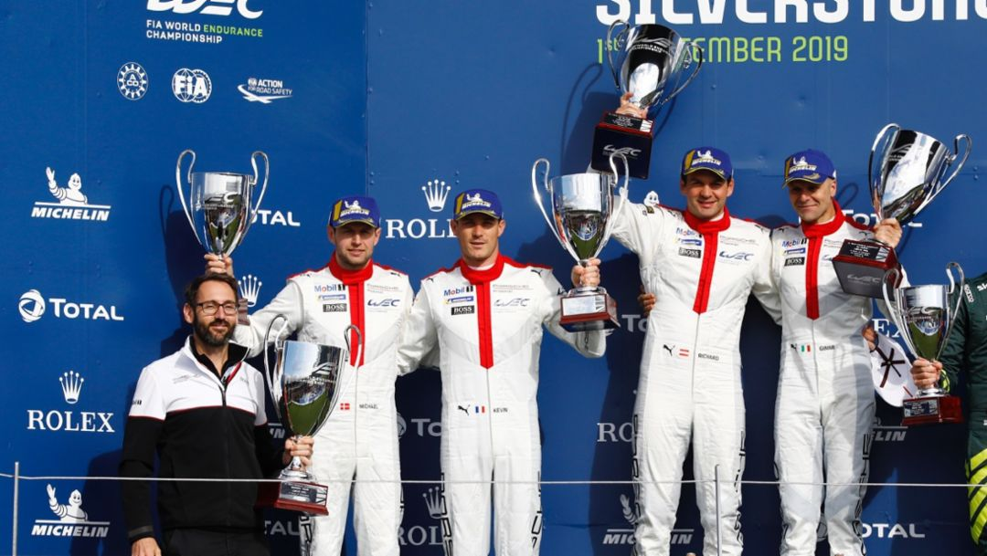 Perfect debut: One-two for the new Porsche 911 RSR at Silverstone
