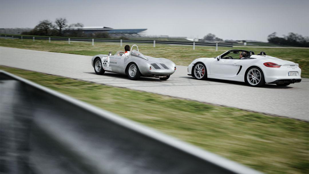 Porsche 550 Spyder, Porsche Boxster Spyder, Porsche Experience Center, Silverstone, Porsche AG