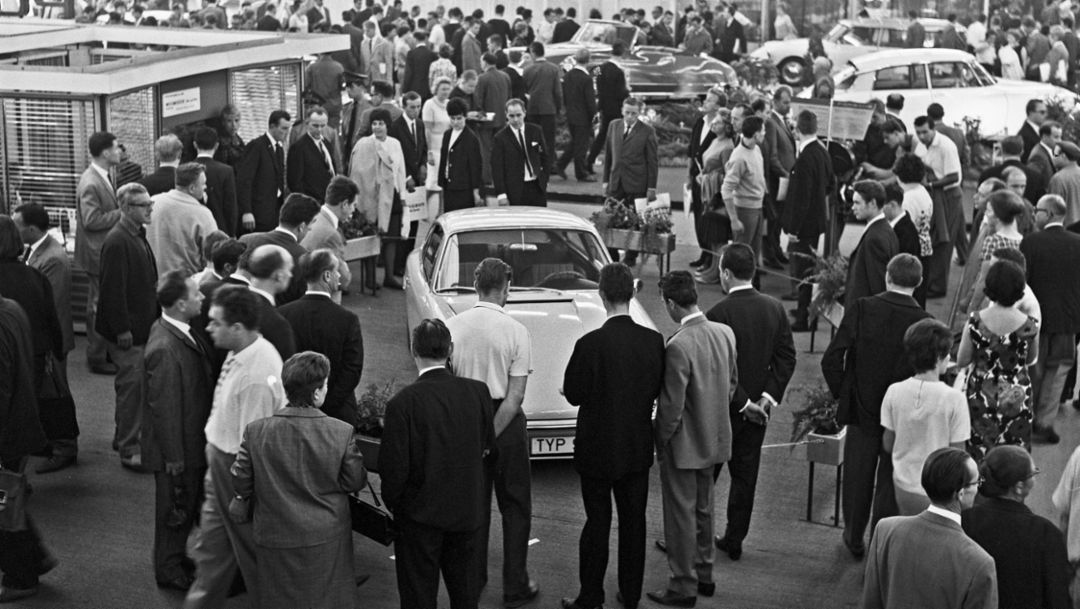Porsche Typ 901, IAA Frankfurt, 1963, 2017, Porsche AG